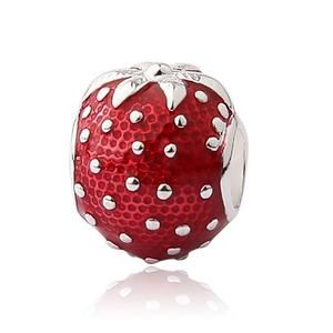 V YA DIY Fruit Jewlery Crystal Beads Charms fit for Pandora Bracelet Necklace Woman's Man's Children Christmas' Gifts
