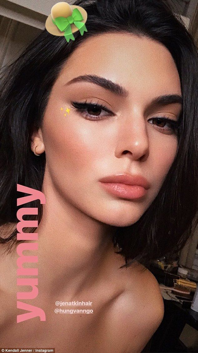 All done up! Kendall also posted another throwback photo, but this time it was a selfie of herself after getting her hair and makeup done by her glam squad; Hung Vanngo and Jen Atkin