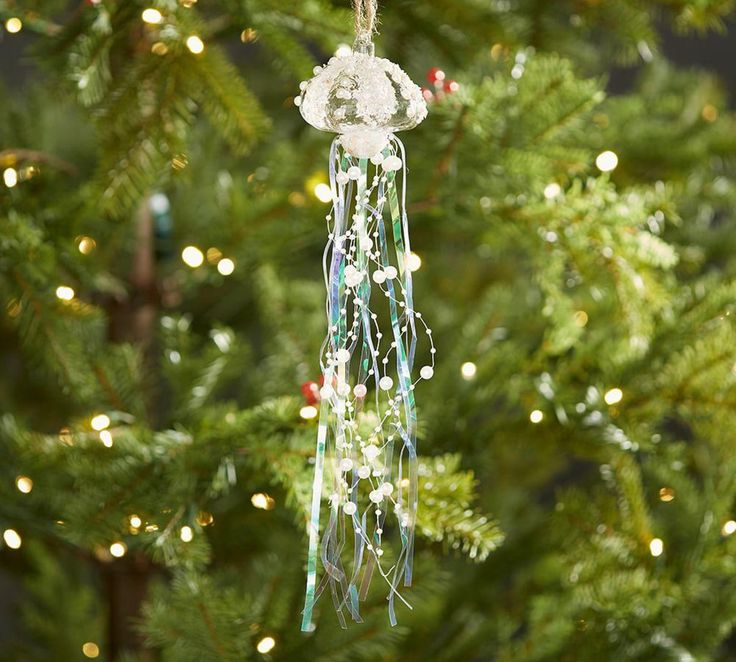 Pearl & Tinsel Jellyfish Ornament