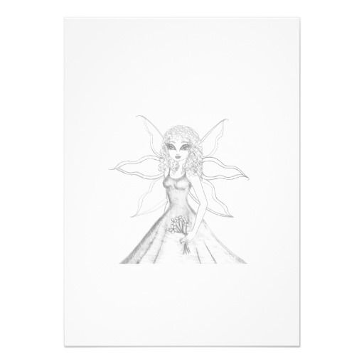 Fairy with Flower Invitation