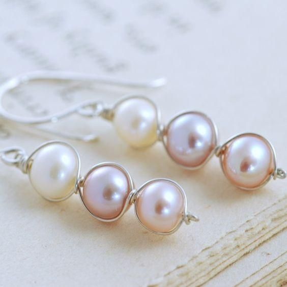 Pearl dangle earrings from LC.Pandahall.com
