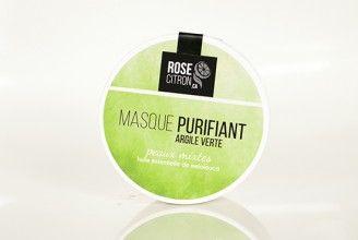 MASQUE À L'ARGILE - Idéal pour peaux mixtes, grasses et acnéiques  MASK CLAY - Ideal for combination skin , oily and acne