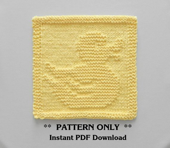 RUBBER DUCK Knitting Pattern PDF Instant by AuntSusansCloset
