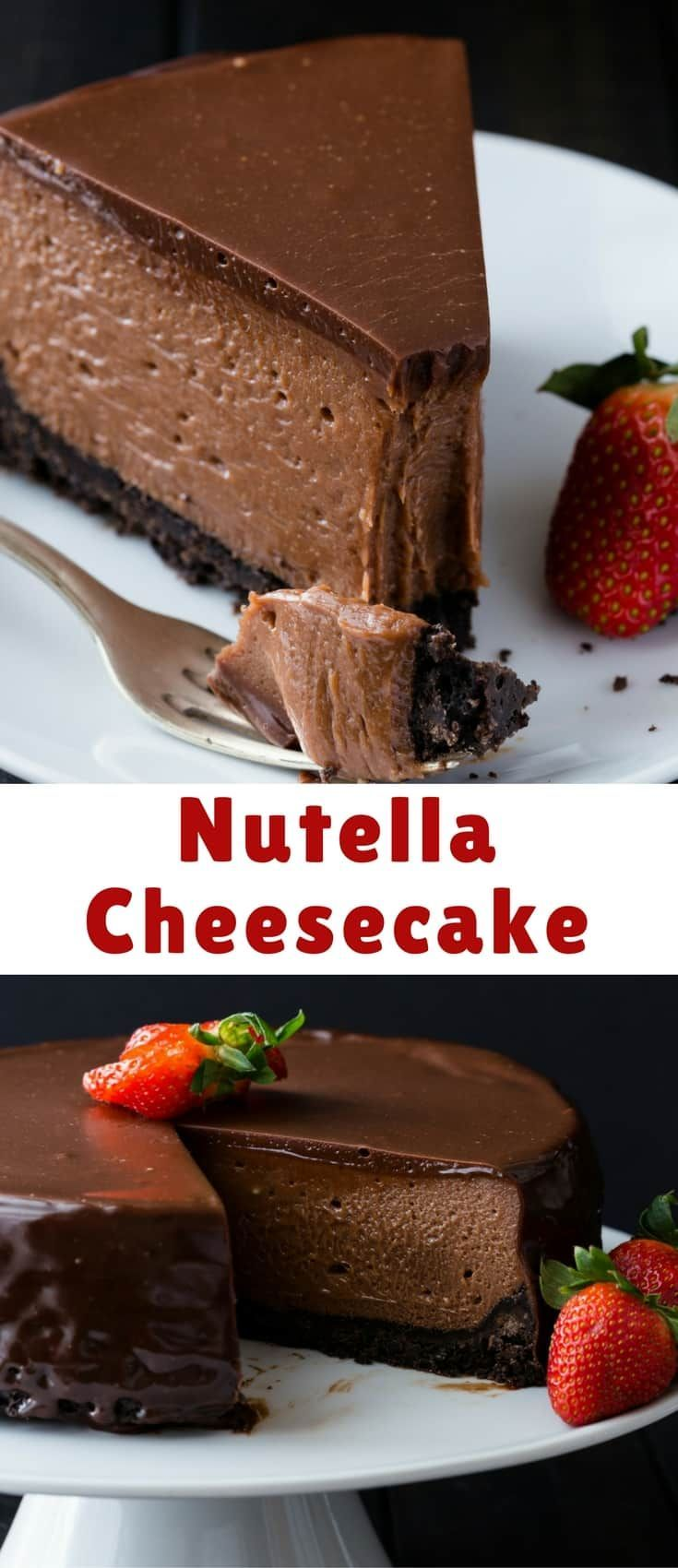This Nutella Cheesecake tastes like it came from a gourmet bakery. It's decadent, creamy, and full of Nutella flavor.