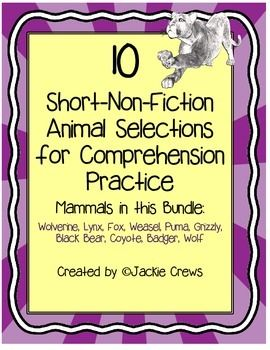 I created this animal facts packet for my students to have extra comprehension support, fluency practice, and test prep. A lot of research went into this file, so it is a great find and time-saver you. Additionally, the packet content sheet has links, so all you have to do is click on a link and it will take you to the page you want in the packet.