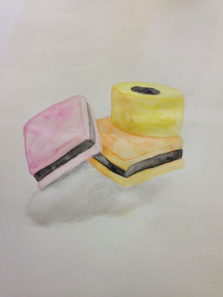 Liquorice all sorts - water soluble pencil crayon