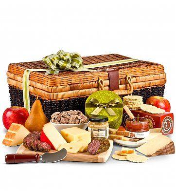 Gourmet Gift Baskets: Artisan Cheese Hamper for my guy.
