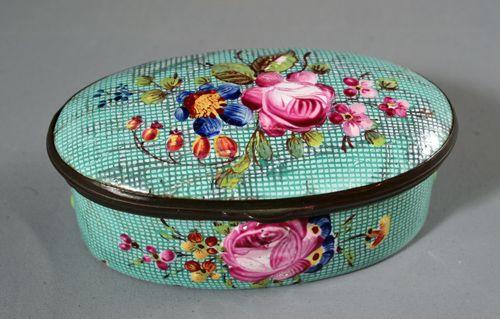 Staffordshire enamel patch box, circa 1790