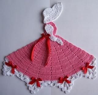New Handmade Pink Crinoline Southern Belle Crochet Doily $9.99