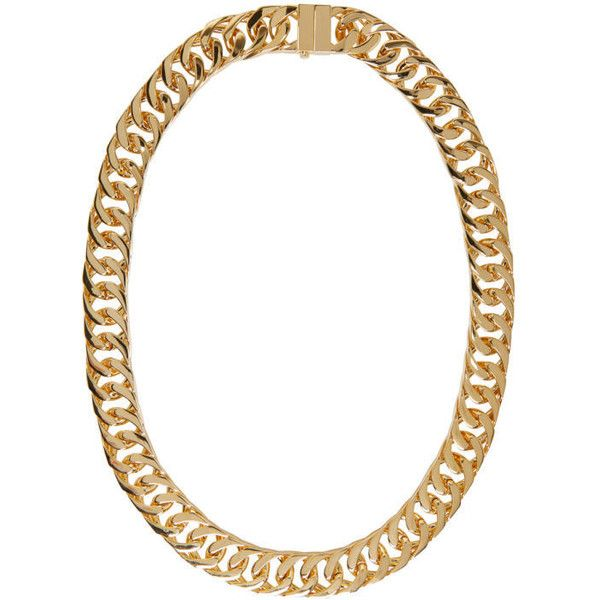 Ambush Gold New Classic Chain 2 Necklace ($1,345) ❤ liked on Polyvore featuring men's fashion, men's jewelry, men's necklaces, gold, mens chain necklace, mens gold curb chain necklace, mens gold chain necklace, mens yellow gold cross necklace and mens gold necklace