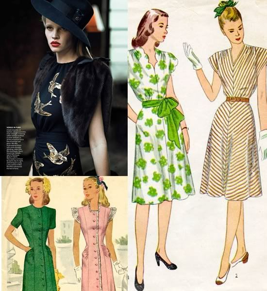 images of 1940's fashion