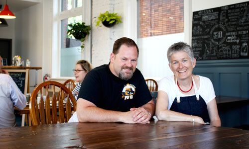 Michael Bowyer and Susan Carr. Hamilton Eatery