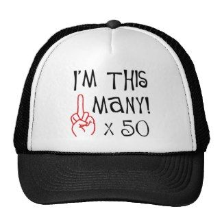 50th birthday Middle Finger Salute Mesh Hats