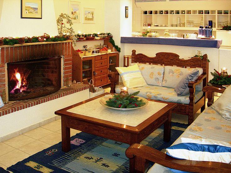 Daphne's Club cosy winter fireplace