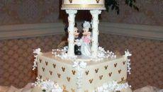 perfect elegant white mickey theme design cake unique 2016 wedding cake singapore