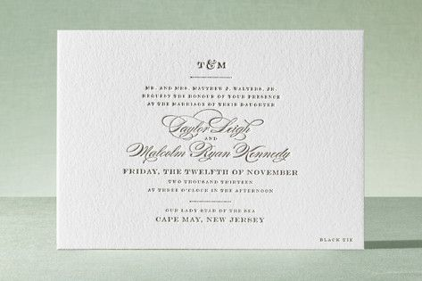 Charming Go Lightly Letterpress Wedding Invitations by Cheree Berry Paper at minted com