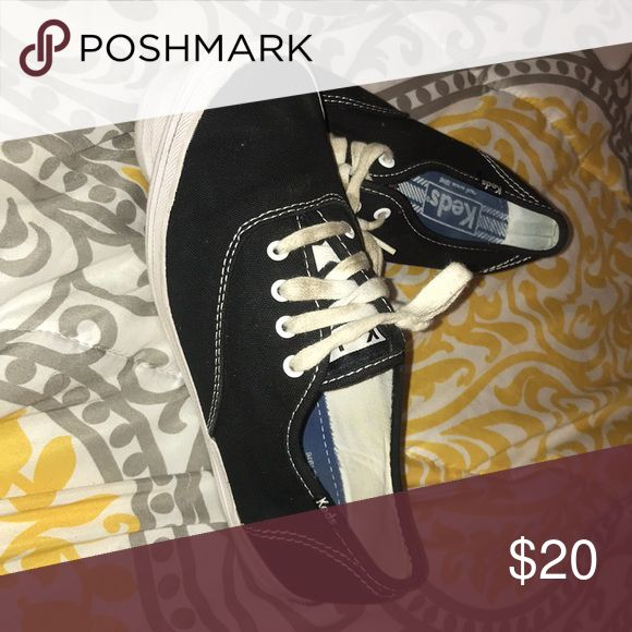 Black keds *HURRY* Great condition only the laces are a little dirty 10 minute sale!! Keds Shoes Sneakers