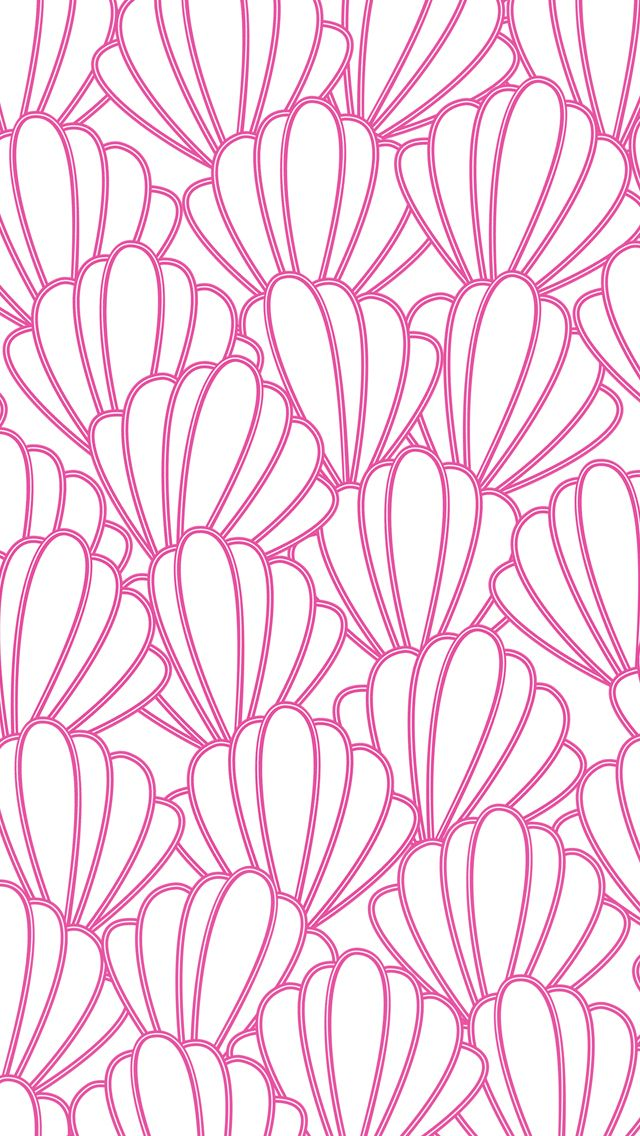 iPhone 5 wallpaper #preppy #seashells #pattern   iPhone ...
