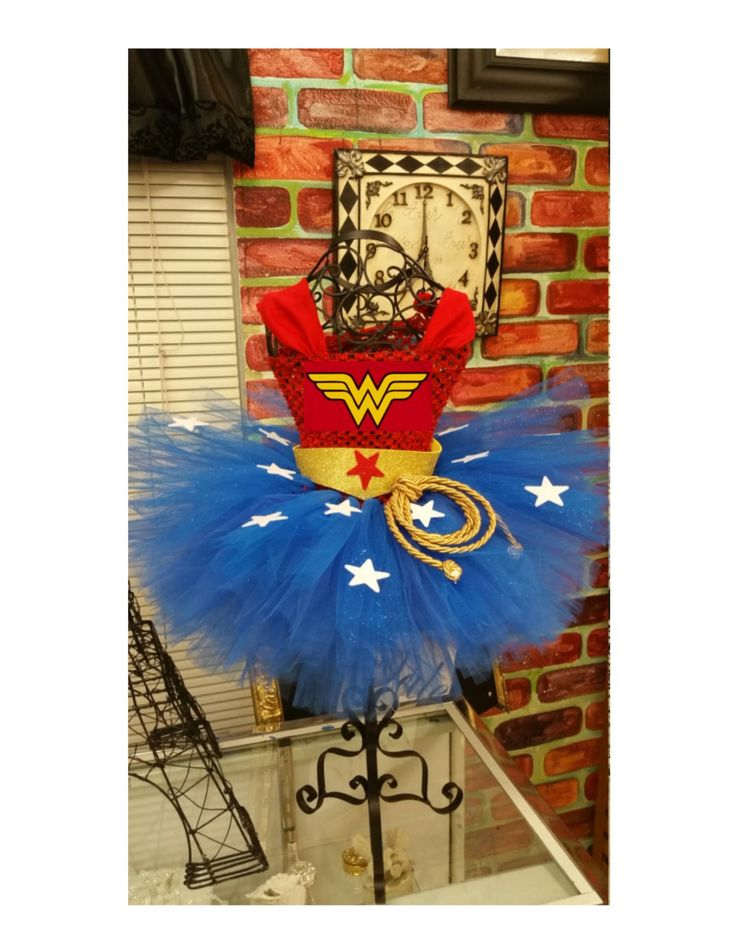 Wonder Woman tutu dress, wonder woman tutu no cape Will arrive before halloween by parisianbridal on Etsy