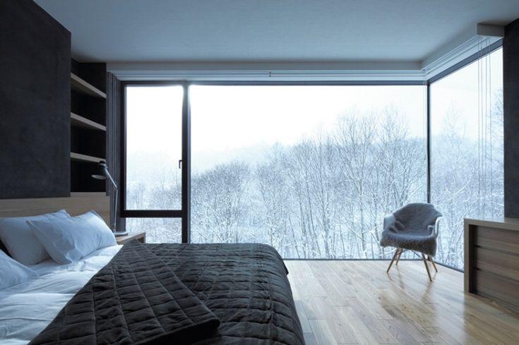 Amazing and unique bedrooms: Big Window, Loft Bedrooms, Bedrooms Window, The View, Interiors Design, Cars Girls, Master Bedrooms, Corner Window, Beautiful Bedrooms