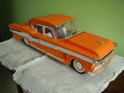 1956 Studebaker President Classic. Ich entwerfe und baue mein eigenes Kartonmodellauto … – Paper Model Cars and M'cycles