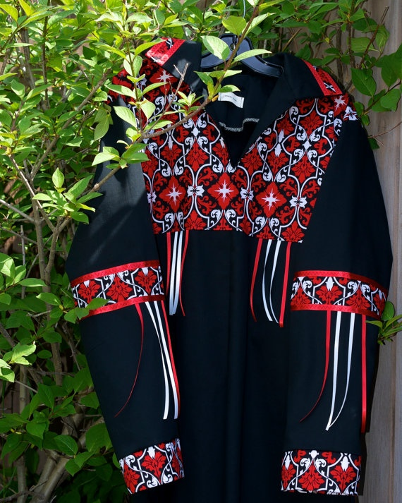 Contemporary Native American Style Ribbon Shirt by FeralFawn, $90.00