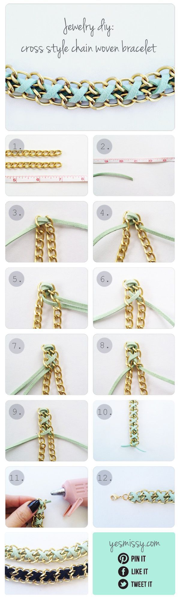 DIY bracelet: How to make your own gorgeous accessories.  More DIY tutorials over at http://www.sewinlove.com.au/category/accessories/