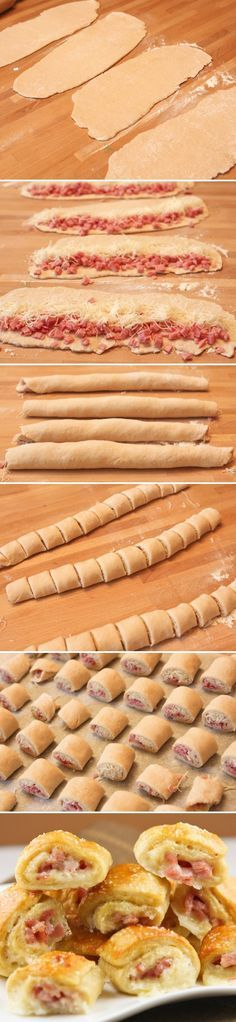 Ham & Cheese roll ups for your graduation party buffet. Set out toothpicks in school colors.