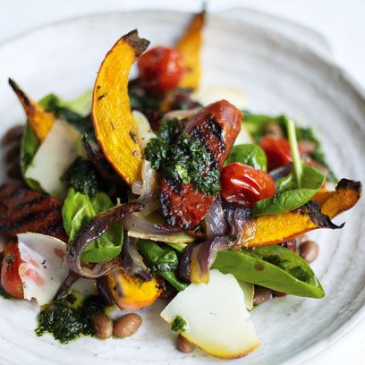 Hot Chorizo Salad With Butternut Squash recipe. For the full recipe and more, click the picture or visit RedOnline.co.uk