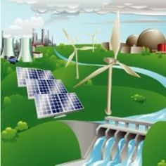 Learn the different types of renewable energy. Sustainable energy sources from solar power or wind power to help fight global warming and save money on energy.