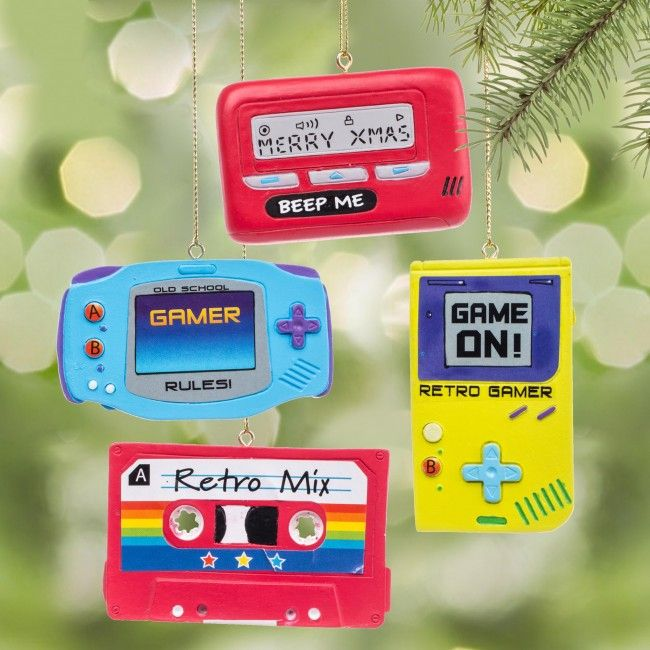 See how many of these retro ornaments your kids recognize.