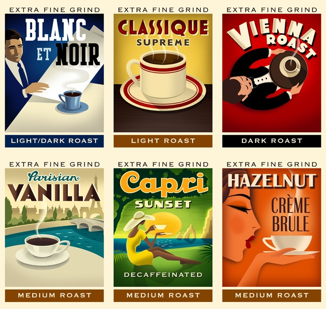 Melitta Coffee Labels