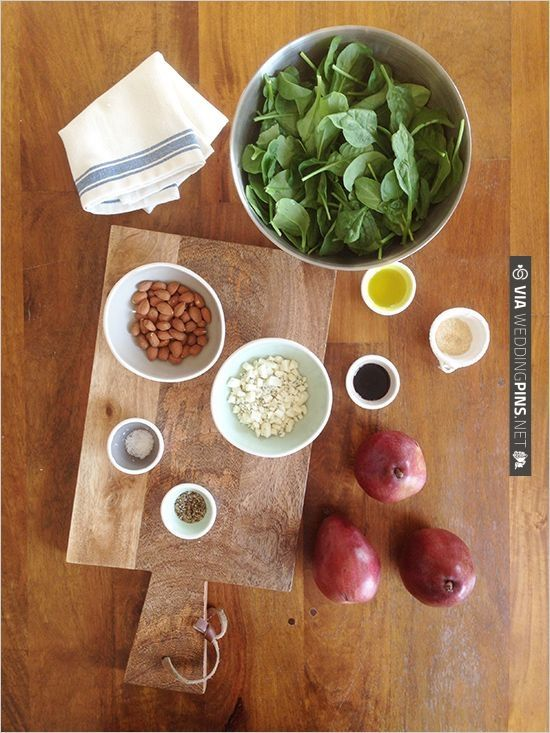 Pear Salad ingredients   CHECK OUT MORE IDEAS AT WEDDINGPINS.NET   #weddingfavors