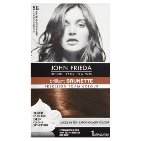 John Frieda Brilliant Brunette 5G Medium Golden Brown Precision Foam Colour, 1 application, Gold