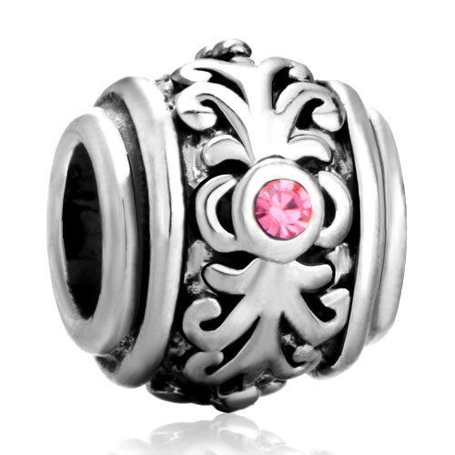 Flower Pugster Bead Pandora Charm Bracelet Compatible Pugster. $12.99. Weight (gram): 4.2. Note: Snake chain is not included. Metal: metal,silver plated,crystal. Color: silver,pink. Size (mm): 9.36*10.8*10.51