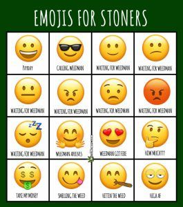 Emojis For Stoners and Potheads Weed Memes