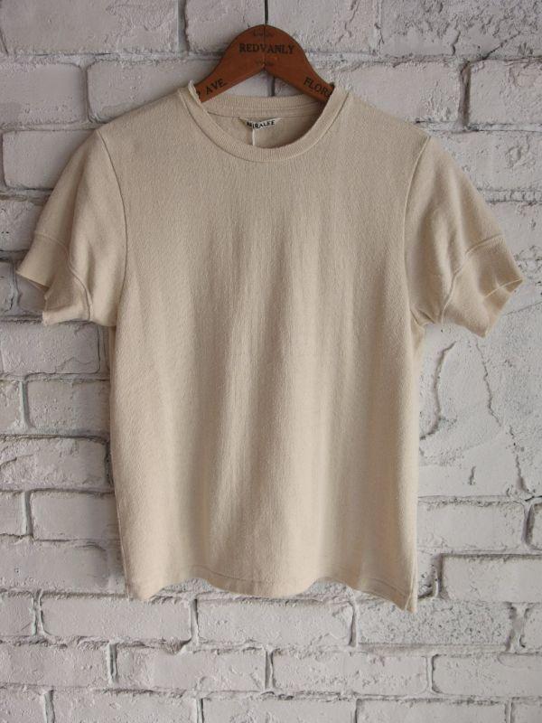 AURALEE (レディース)シルクカットオフTシャツ                        サイズ            肩幅            身幅            着丈    …
