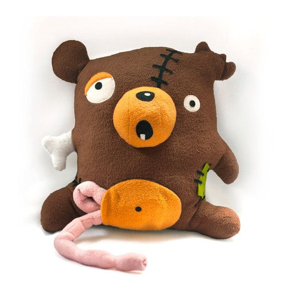 I know quite a few kids that would get a kick out of this...  Zombie Bear pattern  PDF stuffed animal sewing by DIYFluffies, $9.00