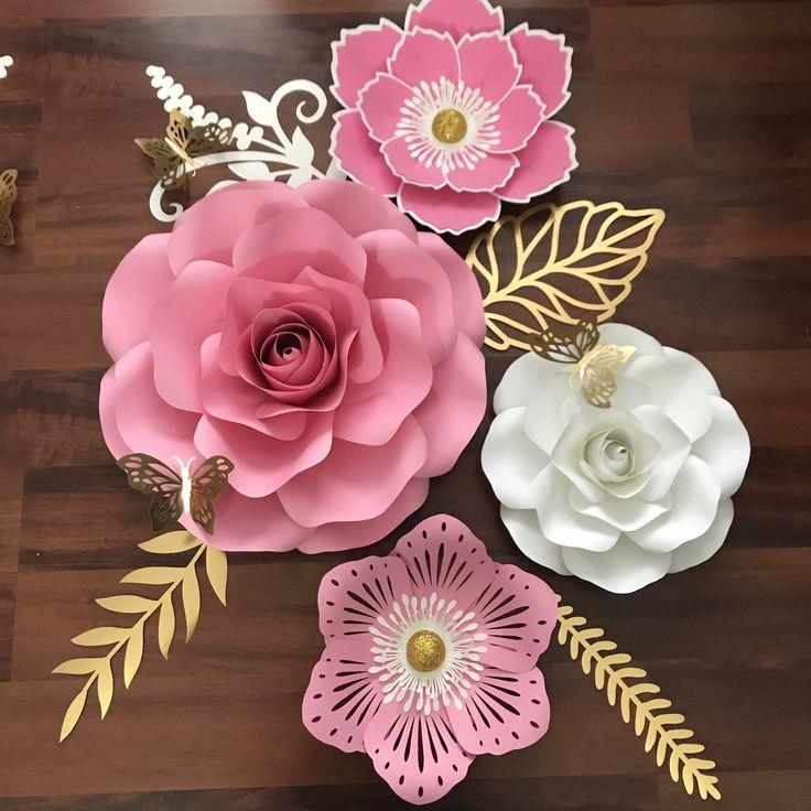 Martha stewart paper flower template svg files gardening flower 167 best fleurs papier images paper flowers craft mightylinksfo