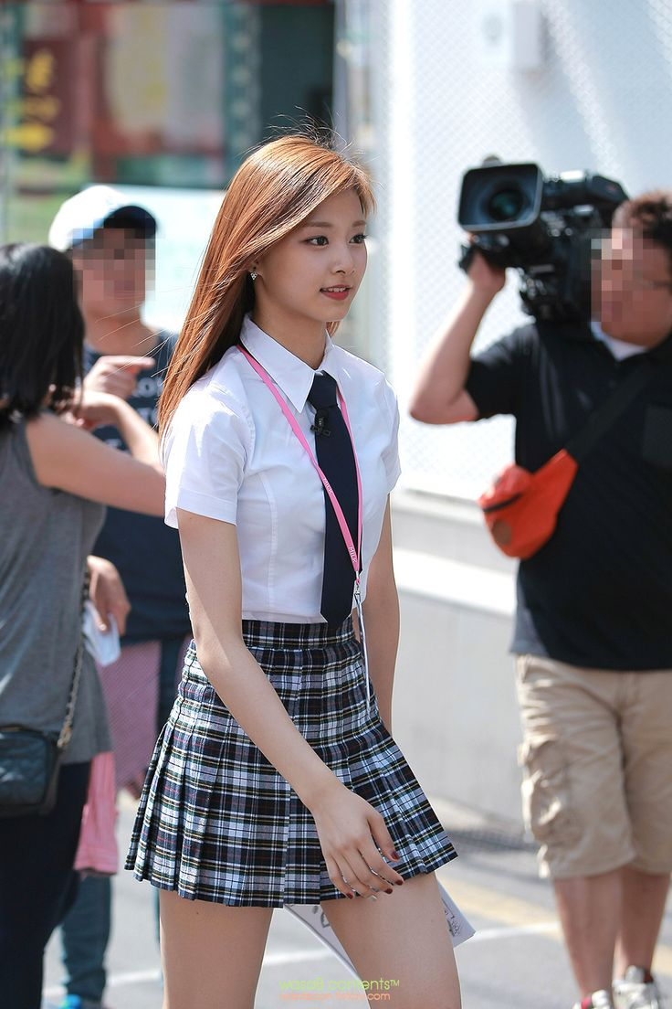 Twice Tzuyu Rocking The School Uniform Lovely Kpop-1160