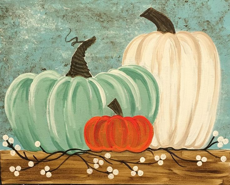 Paint Autumn's Heirlooms with us at Pinot's Palette today! #pumpkins #painting #autumn #autumniscoming