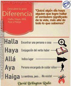"""Diferencia de """"HALLA"""" """"HAYA"""" """"ALLA"""" """"AYA"""" """"HAIGA"""" ~ Radio Palomo"""