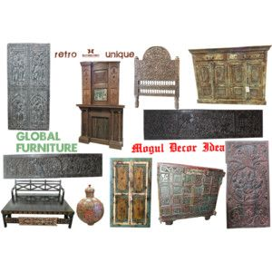 """Unique Vintage Rustic Home Decor Furniture"" by moguldesigns on Polyvore"