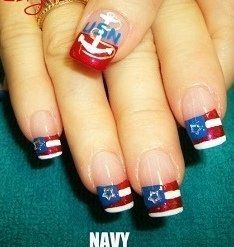 US Navy Nails....we cant wear them but boy are they cute!!