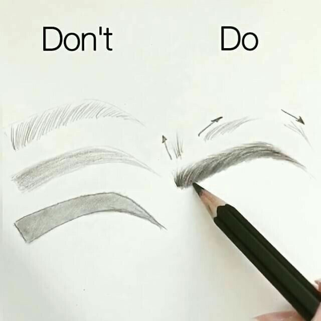 Delilah ✩ The do's and don'ts of drawing an eyebrow! - . a r t .