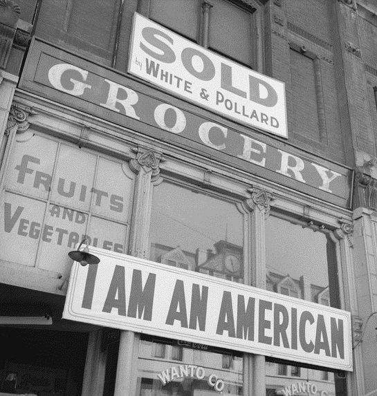 During the start of World War II, many Japanese-Americans were forced into internment camps so they could not form alliances with the Japanese. Unfortunately, they were forced to sell their businesses.