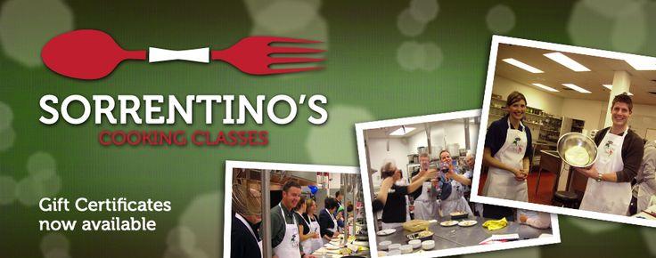 Sorrentino's Restaurant Group | La Cucina Cooking Class Schedule