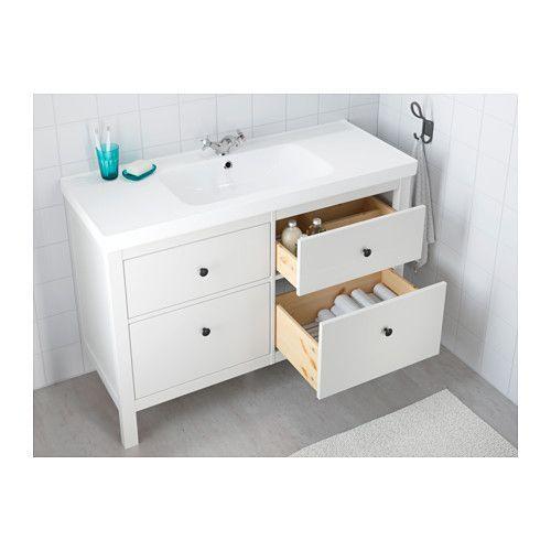 HEMNES / ODENSVIK Wash-stand with 4 drawers - white - IKEA