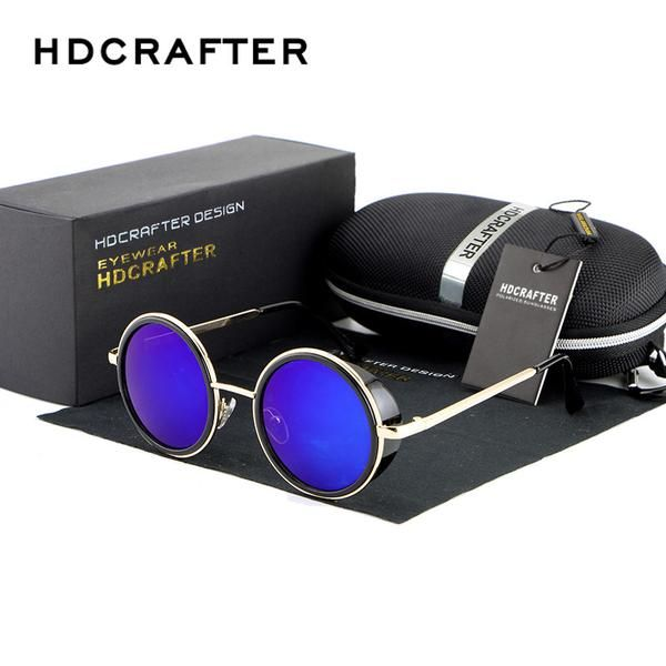 Designer Steampunk Style Polarized Sunglasses