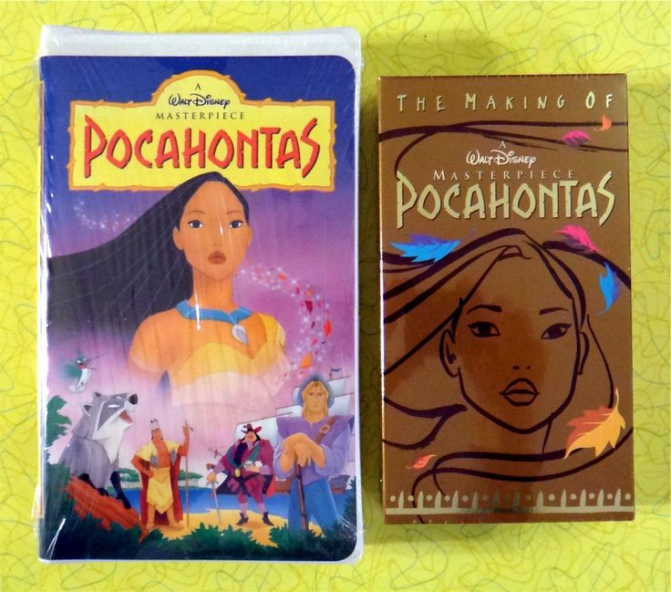 Pocahontas ~ 2 New VHS Lot ~ Masterpiece Clamshell & Making of ~ Sealed Disney